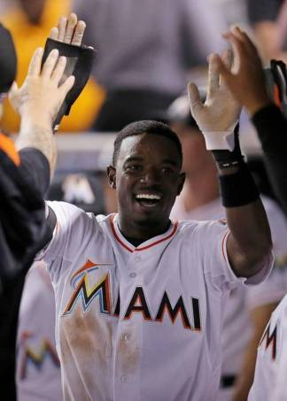 Second Baseman Dee Gordon of the Miami Marlins. Rob Foldy/Getty Images